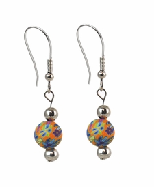 CLOSEOUT - Splash of Multi Classic Earrings - Viva Beads