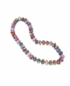 NEW! - Splash of Multi Flat Shimmer Necklace - Viva Beads