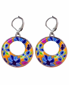 NEW! - Splash of Multi Circle Earrings - Viva Beads