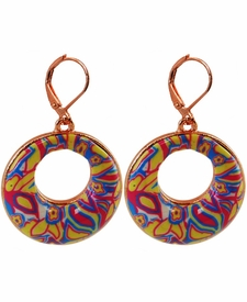 CLOSEOUT - Splash of Neutral Circle Earrings - Viva Beads