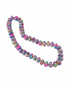 NEW! - Splash of Pink Flat Shimmer Necklace - Viva Beads