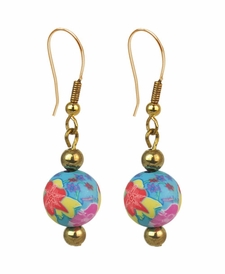 NEW! - Splash of Tropical Chunky Earrings - Viva Beads