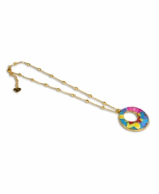NEW! - Splash of Tropical Circle Necklace - Viva Beads
