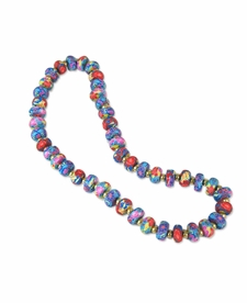 NEW! - Splash of Tropical Flat Shimmer Necklace - Viva Beads