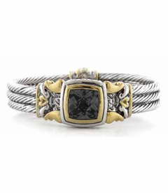 Square Anvil Cable Magnetic Bracelet - Black - John Medeiros