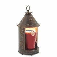 NEW! - Sunshine - Primitive Tin Punched Candle Warmer Lantern