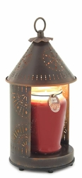 Sunshine - Primitive Tin Punched Candle Warmer Lantern