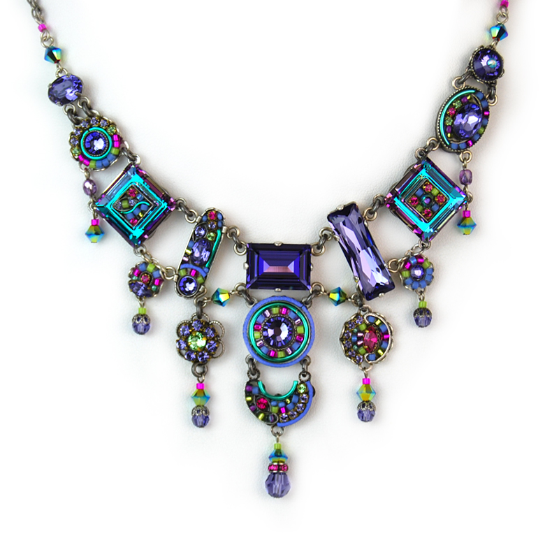 tanzanite la dolce vita elaborate necklace 8300 firefly