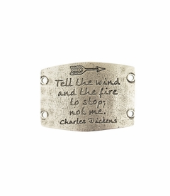 NEW! - Tell The Wind And The Fire - Large Silver Sentiment - Lenny & Eva