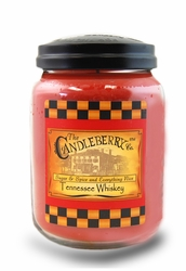 Tennessee Whiskey 26 oz. Large Jar Candleberry Candle | Large Jar Candles by Candleberry
