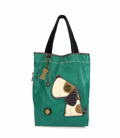 Toffy Dog Everyday Tote - Leather - Dark Turquoise
