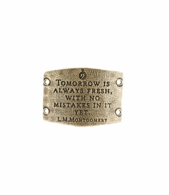 NEW! - Tomorrow Is Always Fresh - Large Brass Sentiment - Lenny & Eva