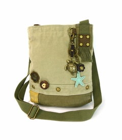 NEW! - Turtle Patch Crossbody with Keychain - Sand