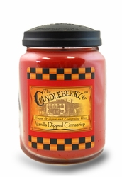 Vanilla Dipped Cinnacrisp 26 oz. Large Jar Candleberry Candle | New Releases by Candleberry