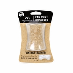 Vintage Leather WoodWick Car Vent Freshener | WoodWick Car Vent Fresheners
