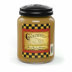 *Warm Woolen Mittens 26 oz. Large Jar Candleberry Candle | New Releases by Candleberry