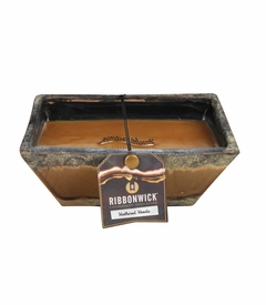 NEW! - Weathered Woods Medium Premium RibbonWick Candle
