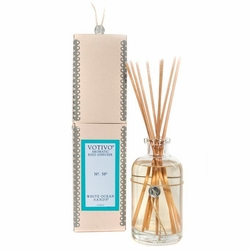 White Ocean Sands Aromatic Reed Diffuser Votivo Candle | Aromatic Collection Reed Diffuser Votivo Candle