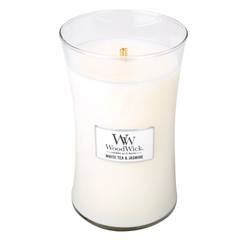 White Tea & Jasmine WoodWick Candle 22 oz. | Jar Candles - Woodwick Fall & Winter 2015