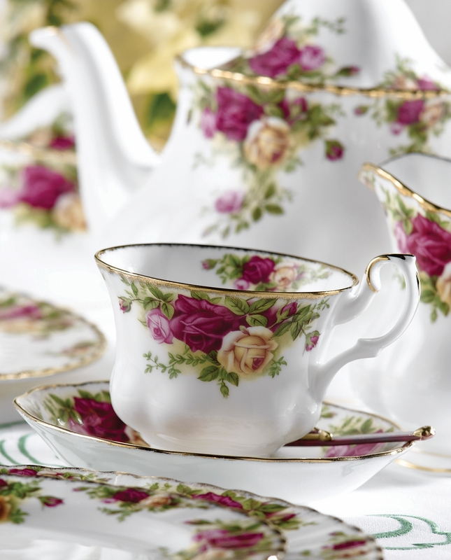 Old Country Roses 9-Piece Tea Set By Royal Albert