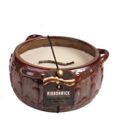 Red Chai Large Round RibbonWick Candle