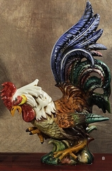 "PRE-ORDER - Rooster Looking Down 28""H x 20""L x 18""W by Intrada Italy"