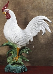 "Rooster White 30""H by Intrada Italy"