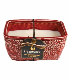 Scarlett Berry Rectangle RibbonWick Candle