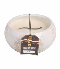 Silk Lace Large Round RibbonWick Candle