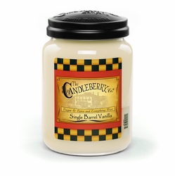 Single Barrel Vanilla 26 oz. Large Jar Candleberry Candle | New Releases by Candleberry