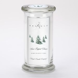 Snow-Capped Fraser Large Apothecary Jar Kringle Candle- | Large Apothecary Jar Kringle Candles