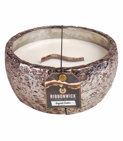 Sugared Amber Large Round RibbonWick Candle
