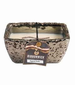Sugared Amber Rectangle RibbonWick Candle