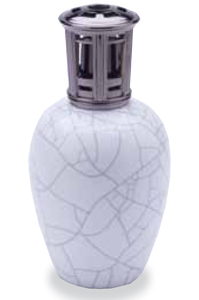 Tall Ivory Crackle Fragrance Lamp by Scentier