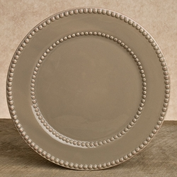 Taupe 11in Livingstone Dinner Plate - Set of 4 - GG Collection