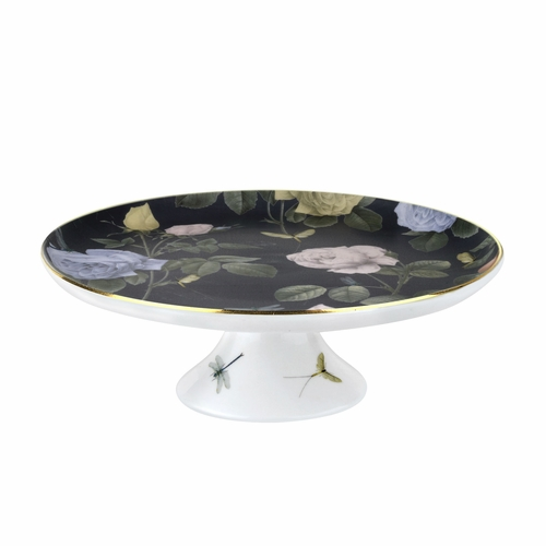 Ted Baker Rosie Lee Black White Footed Cake Stand By