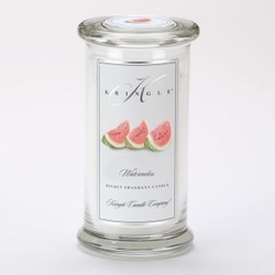 Watermelon Large Apothecary Jar Kringle Candle | Large Apothecary Jar Kringle Candles
