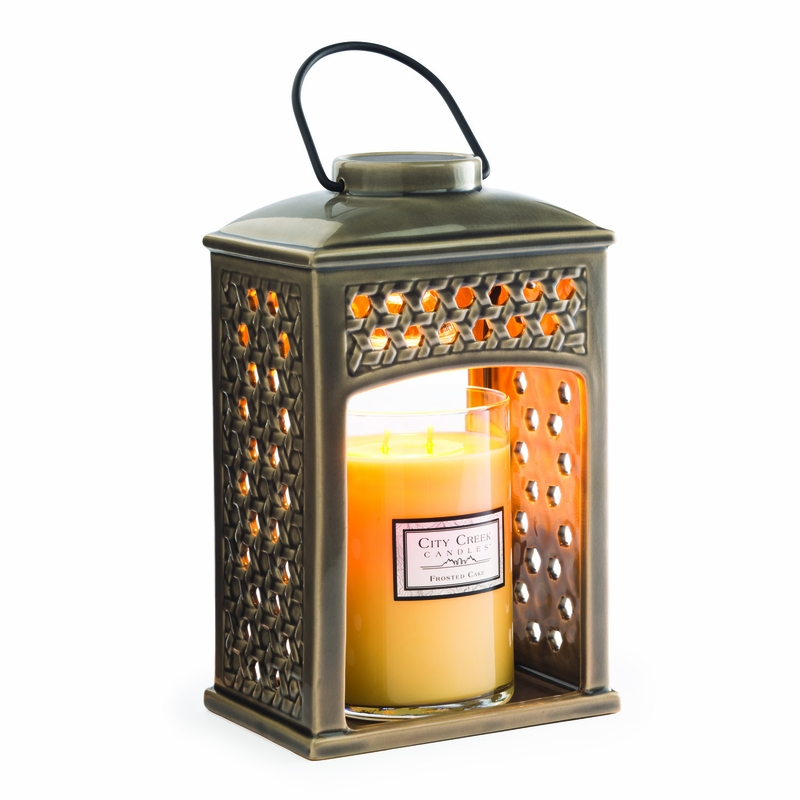 Weave Ceramic Candle Warmer Lantern