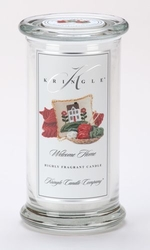 Welcome Home Large Apothecary Jar Kringle Candle | Large Apothecary Jar Kringle Candles