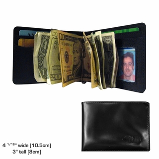 Buffed Leather Acrobat Money Clip Wallet