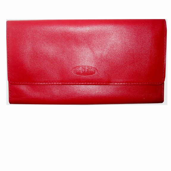 Leather Monte Cougar Checkbook Wallet