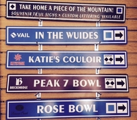 Ski Resort Trail Signs