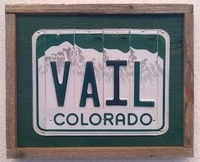 Recyled Licence Plate Art