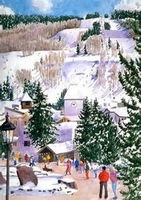 Vail Winter Day watercolor by Barbara Froula