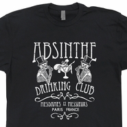 Absinthe T Shirt Vintage Paris France Drinking Club T Shirt