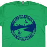 Amazon River Guide T Shirt Vintage Retro Kayak Canoe Camping T Shirts