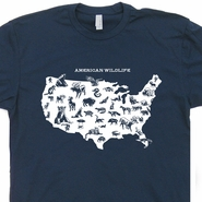 American Wildlife T Shirt Hiking Camping National Park Tee Shirt