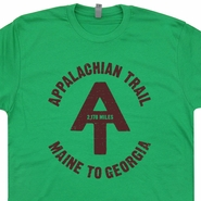 Appalachian Trail T Shirt Vintage Hiking Camping Tee Shirts Canoe Kayak Tees