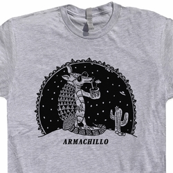 Armadillo Armachillo T Shirt UFO Giant Cactus T Shirts Funny Animals Tee