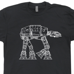 AtAt Technical Design T Shirt Vintage Star Wars Shirts Empire Strikes Back